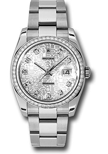 Rolex Datejust 36mm Stainless Steel Case, 18K White Gold Bezel Set With 52 Brilliant-Cut Diamonds, Silver Jubilee Dial, Diamond Hour Markers, And Stainless Steel Oyster Bracelet.