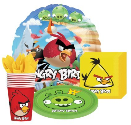 Angry Birds Party Supplies Kit for 8 Guests Includes Plates, Cups, Napkins and (Angry Birds Plates)