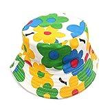 Opromo Kids Cotton Twill Bucket Hat, Summer Outdoor Sun Hat, Sun Protective Hat-Flower-48 PCS