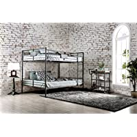 HOMES: Inside + Out IDF-BK913QQ Xondro Bunk Bed Childrens Frames, Queen/Queen