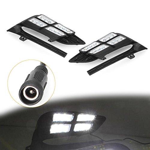 [해외]GZYF 주도 주간 실행 라이트 2Pcs DRL 안개 램프 시보레 크루 제 2017-2018 2 세대 6000K 백색 광 / GZYF LED Daytime Running Light 2Pcs DRL Fog Lamp for Chevrolet Cruze 2017-2018 2nd Gen 6000K White Light
