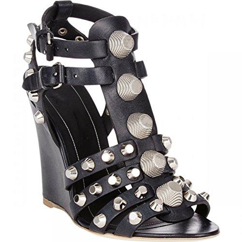 Sandales Compensées Noir Minitoo noir femme 0HqxwB4x