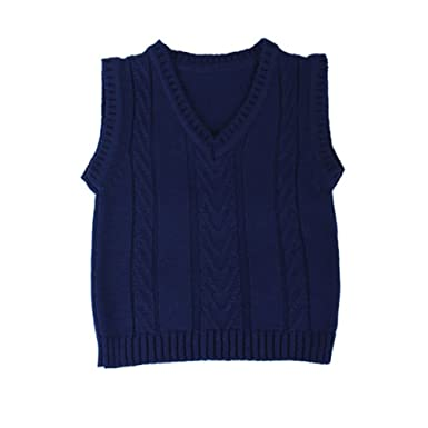 ca9fb3a00 Amazon.com  IOBIO 100% MERINO wool VEST knitted baby organic sheep ...