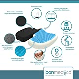 Bonmedico® Orthopedic (Extra Large) Coccyx Seat Cushion, Pain Reducing Pillow, Relieves Lower Back Pain, Sciatica, Pregnancy & Maternity, Great For Travel Car, Office Chair & Wheelchair, In Black