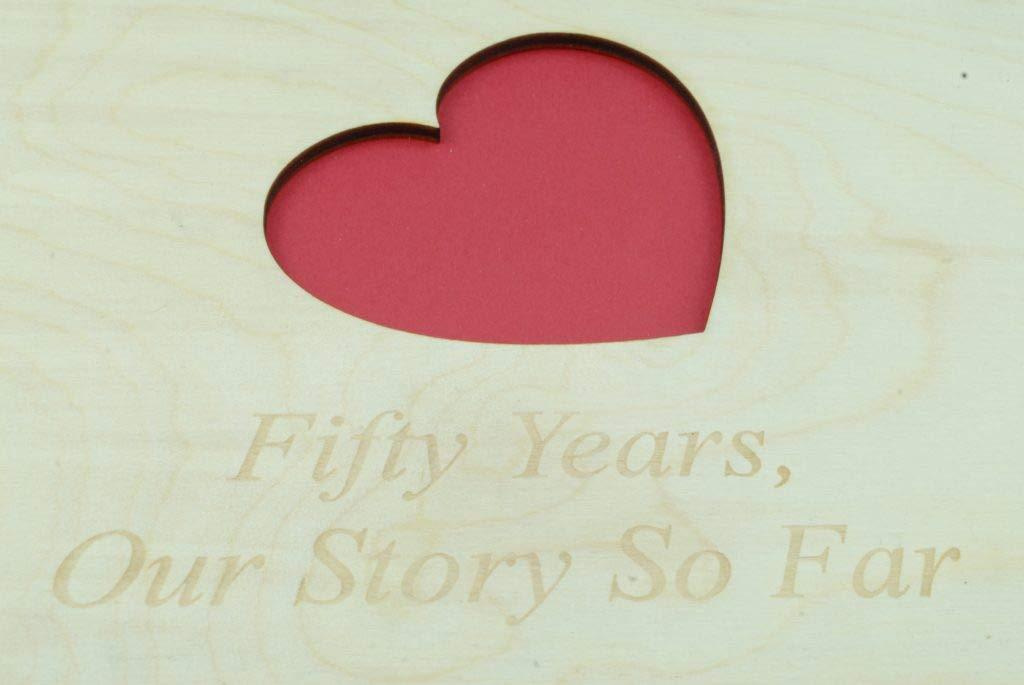 /Álbum de recortes de madera para 3 a/ños de aniversario perfecto para tu esposa o novia