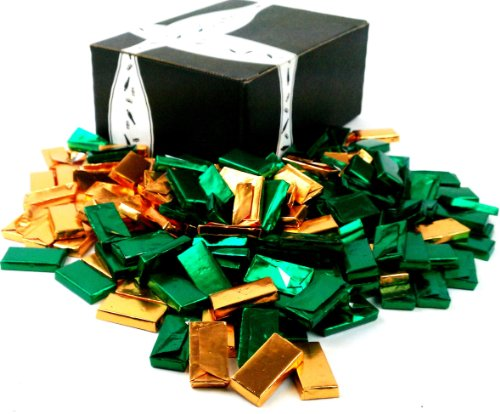 Andes Crème De Menthe Thins, 2 Pounds of Green and Gold Foil-wrapped Chocolates in a Gift Box