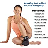 Ankle & Foot Hot / Cold Therapy Wrap Size LG / XL – Great for Treating Sprained Ankles, Swelling Feet, Achilles Tendinitis, and Arthritis Relief – Hot / Cold Gel Packs Included