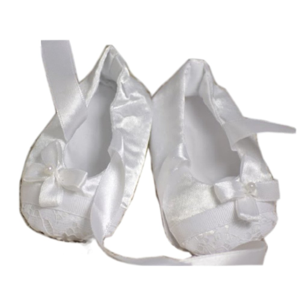 Girls White Baptism First Communion or Christening Socks with Cross .by Tip Top