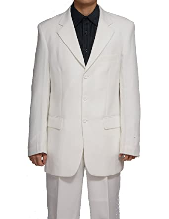 New Men's 3 Button Single Breasted Cream Dress Suit at Amazon ...