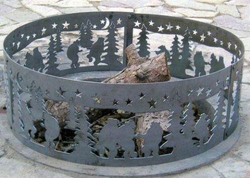 Dancing Bear Fire Ring Size: Medium