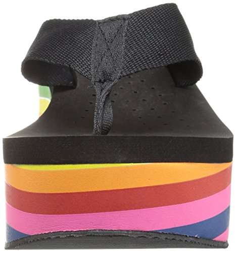Volatile Women's Cakepop Wedge Sandal Black/Multi WFjvcSHPE