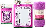 Locker Lookz Dry Erase Board with Marker, Rug & Storage Bin Set - 2015 Limited Edition (Bundle of 3) (Purple Damask)