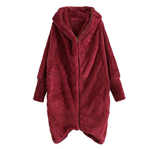 Women Hoodie Winter Solid Zip Pockets Irregular Cardigan Coat Outwear for $<!--$22.83-->