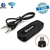 Syvo S-307 Bluetooth Stereo Adapter Audio Receiver 3.5 mm (Black)