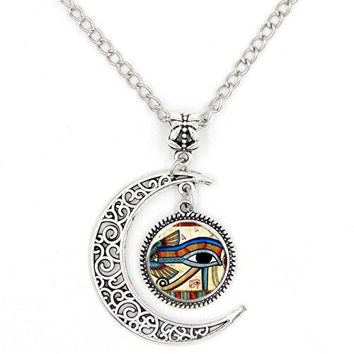 LIAOWY Eye of Horus Necklace Pendant Charm Handmade Jewelry