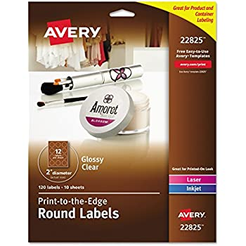 Amazon Avery Round Labels Glossy White 2 Inch Size 120