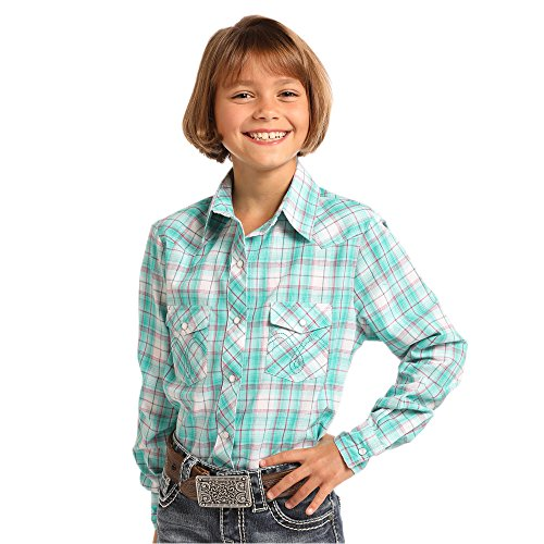 (Panhandle Girls Turq Ocean Plaid)