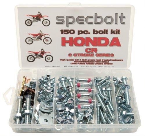 150pc Specbolt Fasteners Brand Bolt Kit fits: Honda CR Two Stroke Bolt Kit for Maintenance & Restoration of MX Dirtbike OEM Spec Fastener CR80 CR85 CR125 CR250 CR500