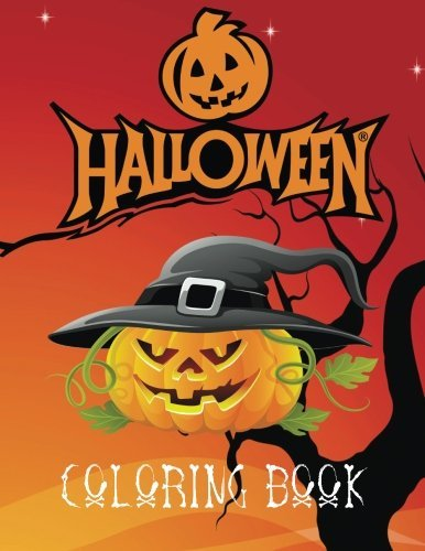 Halloween Coloring Book: A lovely A4 60 page colouring book full of ghosts, ghouls, witches, pumpkins and spiders to colour. Great for kids aged 3+. Makes the perfect gift any time of the year.