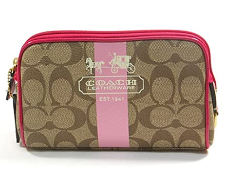 Amazon.com: Auténtico Coach Heritage Signature funda de ...