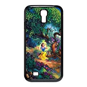 Disney Snow White Forest Tree Flowers Nature Princess Samsung Galaxy S4 9500 Cell Phone Case Black Phone Accessories VG_881885