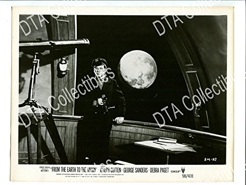 MOVIE PHOTO: FROM THE EARTH TO THE MOON-1958-8X10 PROMO STILL-JOSEPH COTTEN-SCI FI FN/VF