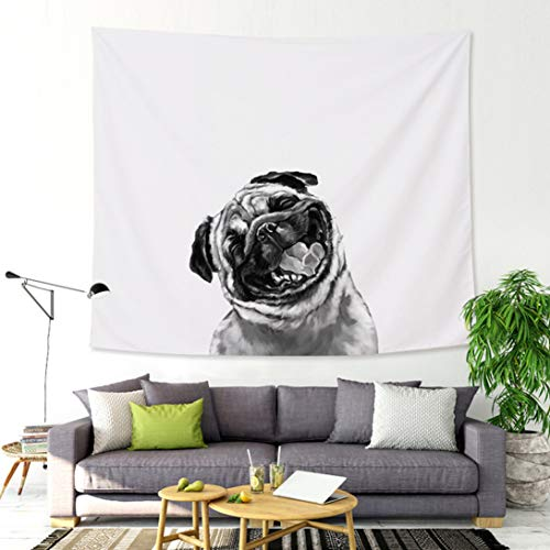 - Wall Tapestry Dog Wall Hanging Cute Bed Sheet Blanket Wall Art for Kids Room,59.06