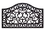Scroll Wave Cast Iron Vulcanized Rubber Outdoor Mat 18x30 by Iron Gate - Classic styling and Ultra-Strong construction - Heavy duty rubber with the look of iron - Welcome your guests with this doormat