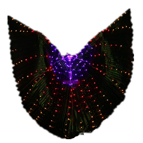 [Halloween Dance Costumes Lighting Up LED Angel Belly Dance ISIS Wings For Pub/Shows Prop#2(Not Contain] (Angel And Demon Costumes)