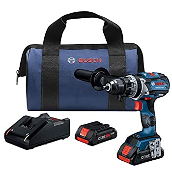Image of Bosch GSR18V-755CB25 18V EC Brushless Connected-Ready Brute Tough 1/2 In. Drill/Driver Kit with (2) CORE18V 4.0 Ah Compact Batteries Home Improvements