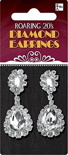 Diamond Earrings (Glitz And Glamour Party Costumes)