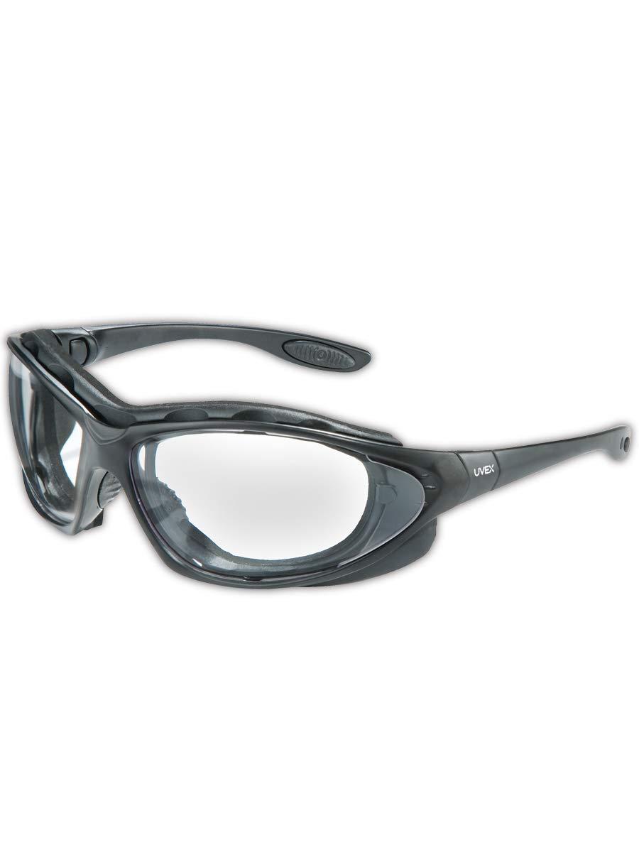 1 Uvex Seismic Safety Eyewear Black Frame SCT-Reflect 50 Uvextra Anti-Fog Lens