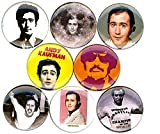 Andy Kaufman x 8 NEW pins buttons badges Tony Clifton wrestling man on the moon