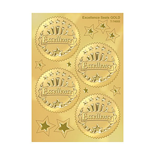 Trend Enterprises Excellence (Gold) Award Seals Stickers (T-74003), 8 ()