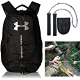 Under Armour UA Hustle 3.0 Backpack + Free Camping Pocket Chain Saw