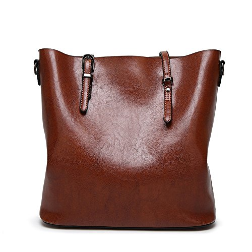 Pu Bag Leather Ladies Purses Bag Womens Handbags Tote Brown capacity Glossy Satchel Patent Large Messenger Shoulder Handbag Afcity T0IqwUFAA