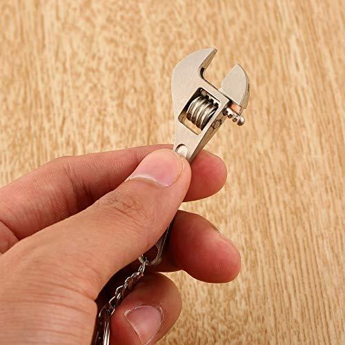 Llave multifunci/ón multifuncional de metal ajustable Herramienta creativa Llave inglesa Llavero Anillo Llavero Herramientas de bolsillo ajustables Plata