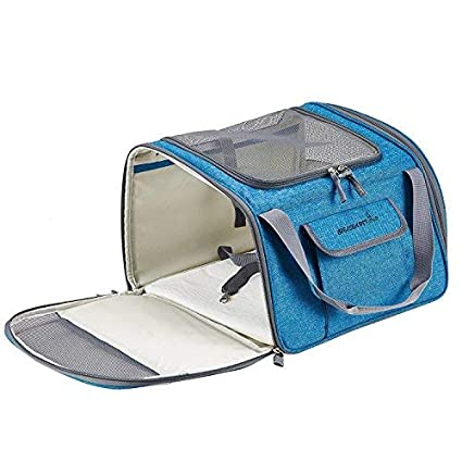 Amazon.com : Decoroom Pet Car Seat Carrier Dog Cat Lookout Booster Seat Soft-Sided Foldable Puppy Travel Bag Cyan : Pet Supplies