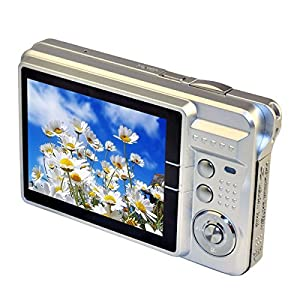 PeGear 18MP 2.7inch Mini Digital Camera with 8x Digital Zoom-Sliver