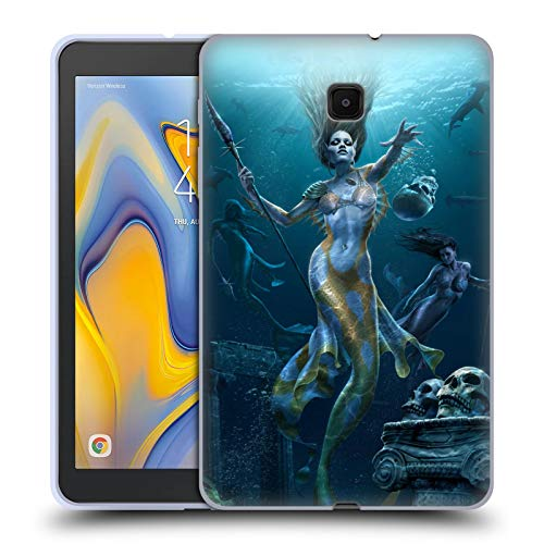 Official Tom Wood Mermaid Hunt Fantasy Soft Gel Case Compatible for Galaxy Tab A 8.0 (2018) -