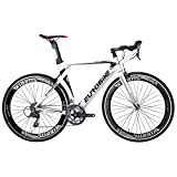 Eurobike Road Bike EURXC7000 54CM Light Aluminum Frame 16 Speed 700C Racing Bicycle White