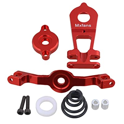 5344 Steering Servo Saver Complete for TRAXXAS E-REVO RC 1:10 Largefoot Car Red: Toys & Games