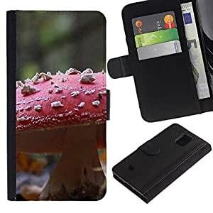 Ihec-Tech / Flip PU Cuero Cover Case para Samsung Galaxy S5 Mini, SM-G800, NOT S5 REGULAR! - Plant Nature Forrest Flower 107