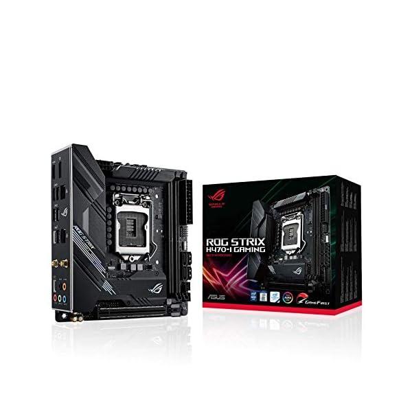 ASUS ROG Strix H470-I Gaming (WiFi 6) B460 LGA 1200 (Intel® 10th Gen) mini- ITX SFF gaming motherboard ( Dual Lan, Intel…