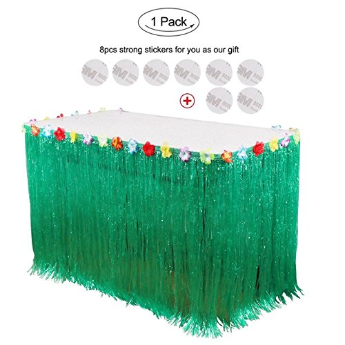 Gigamax(TM) Halloween Props Decorations Artificial Grass Table Skirt for Home Horror Table Decoration Accessories Event Party Supplies[ green ] -