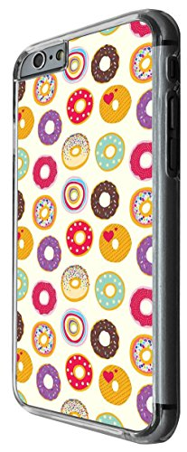 930 - Colorfull Yumm Yum Icing Doughnuts Design For iphone 4 4S Fashion Trend CASE Back COVER Plastic&Thin Metal -Clear