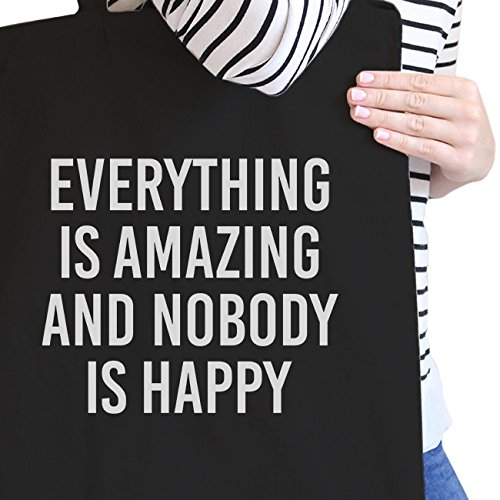 Everything Borsa Happy Nobody Donna inc da spiaggia Natural Black ish 365 Printing But Adult BzwqEE