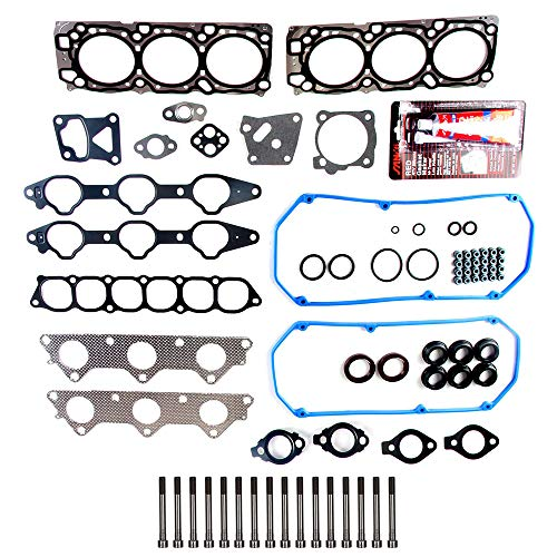ECCPP Engine Head Gasket Set with Bolts fit 1989-2006 Plymouth Voyager Kia Sorento Raider Dodge Caravan Ram 50 Compatible fit for Head Gaskets Kit