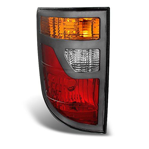 For Honda Ridgeline 4-Dr Pickup Truck Red Clear Tail Light Brake Lamp Driver Left Side Replacement