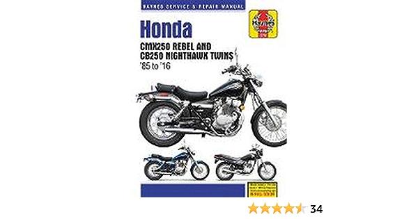 Honda CMX250 Rebel /& CB250 Nighthawk Twins 1985-2014 HAYNES Repair Manual